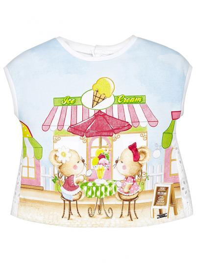 T-shirt curta bebé menina Mayoral
