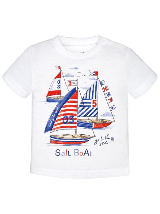 T-shirt menino com barco Mayoral