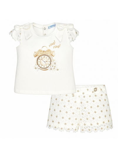 Conjunto bermuda e t-shirt baby menina Mayoral
