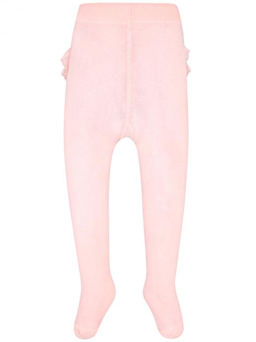 Meia-calça para bebé menina com folhos Mayoral