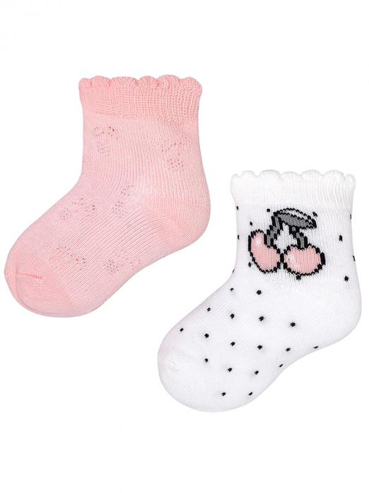 Pack de 2 pares de meias bebé menina em algodão Mayoral