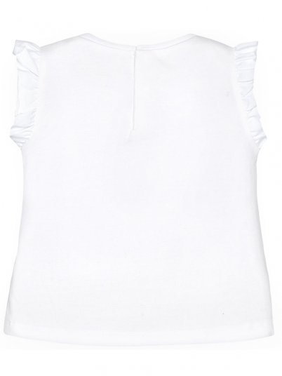 T-shirt bebé menina com folhos Mayoral