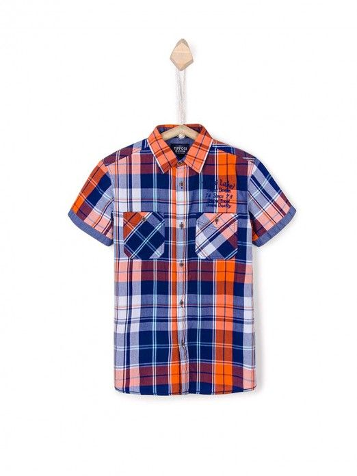 Shirt Boy Dark Blue Tiffosi Kids