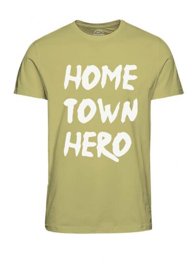 Camiseta Hombre Amarillo Jack & Jones