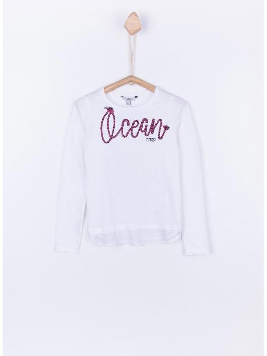 Sweatshirt Girl White Tiffosi Kids