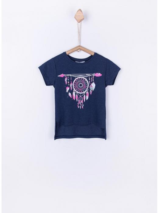 T-Shirt Girl Navy Blue Tiffosi Kids