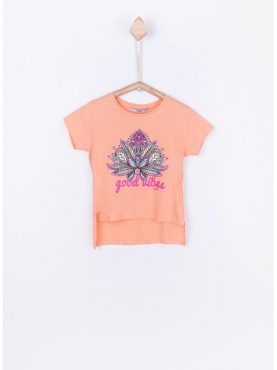T-Shirt Girl Coral Tiffosi Kids