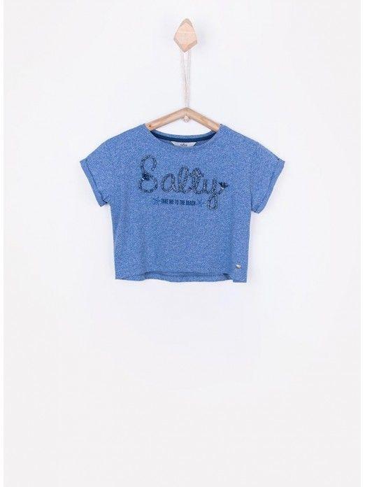 T-Shirt Girl Blue Tiffosi Kids