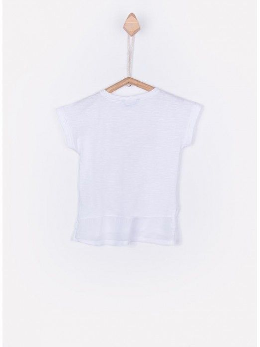 T-Shirt Girl Cream Tiffosi Kids