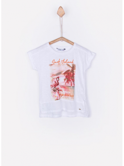 T-Shirt Girl Cream Tiffosi Kids