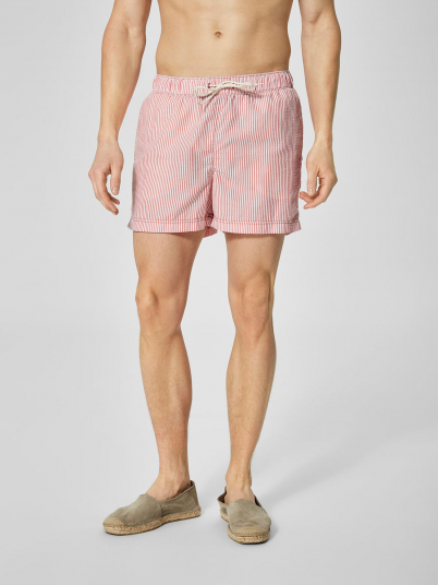 Shorts Man Red Stripe Selected