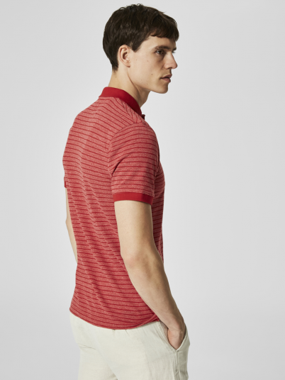 Polo Shirt Man Red Selected
