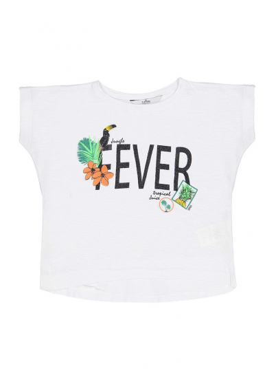 T-Shirt Girl White Tiffosi Kids