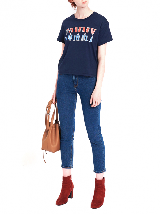 JEANS MULHER HIGH RISE SLIM TOMMY HILFIGER