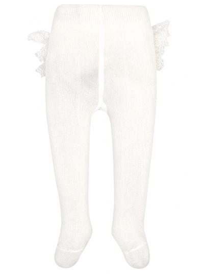 Meia calça folhos para bebé menina Mayoral