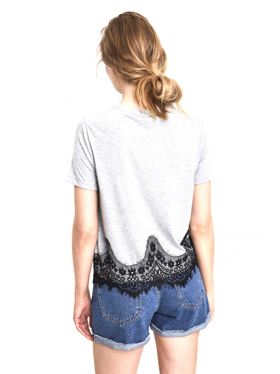 T-Shirt Woman Grey Vero Moda