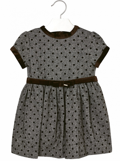 Dress Girl Dark Grey Mayoral