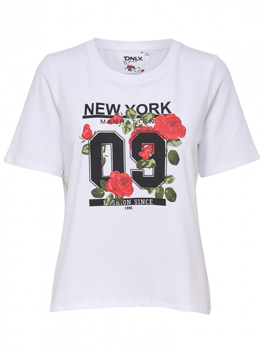 T-SHIRT MULHER ROSE ONLY