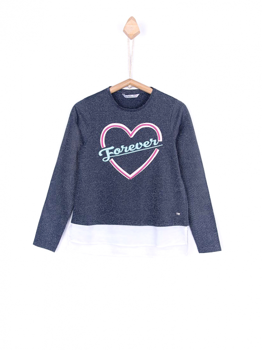 Sweatshirt Girl Dark Blue Tiffosi Kids