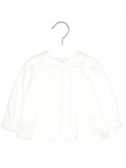 Blusa bordada manga comprida para bebé menina Mayoral