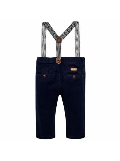 Calça chino suspensórios para bebé menino Slim fit Mayoral