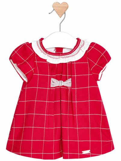 Vestido quadrados para bebé menina Mayoral