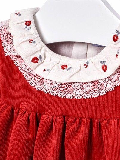 Vestido bombazina bebé menina Mayoral