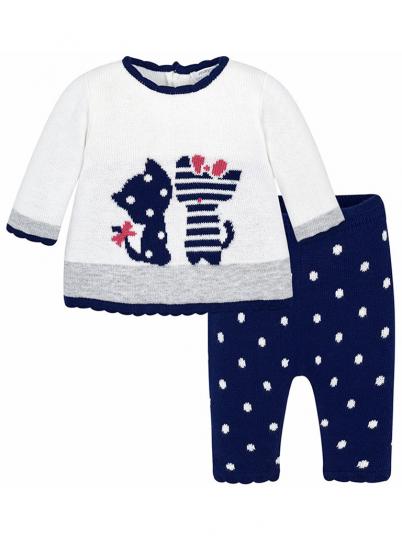 Conjunto vestido e leggins para bebé menina Mayoral