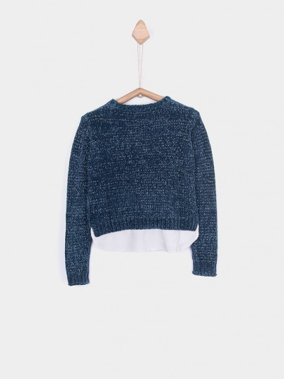 Knitwear Girl Blue Tiffosi Kids