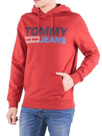Sudadera Hombre Rojo Tommy DM0DM05539