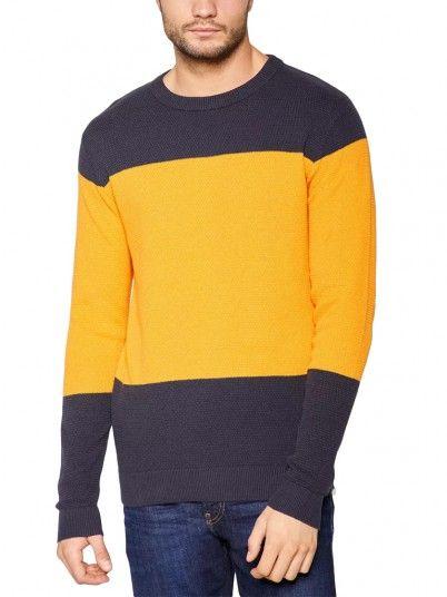 Knitwear Man Mustard Produkt