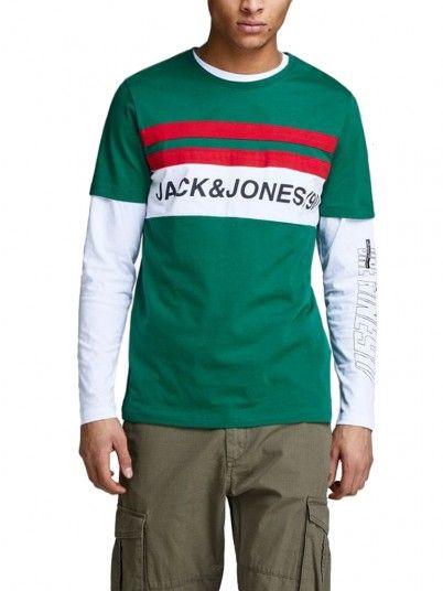 T-Shirt Men Green Jack & Jones 12147429