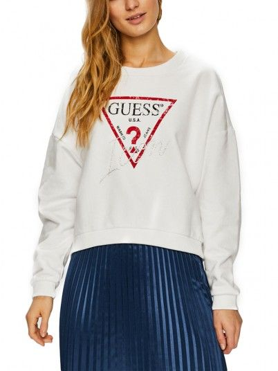 SWEATSHIRT MULHER ICON GUESS