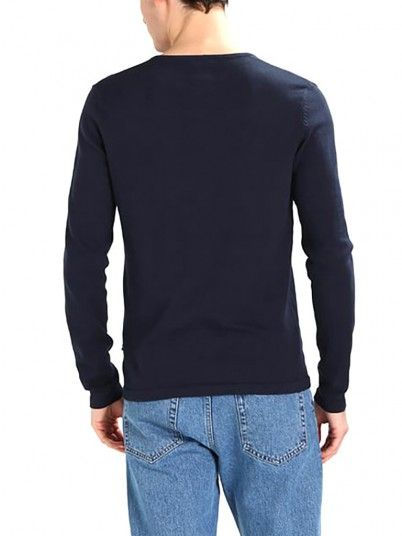 Knitwear Men Navy Blue Produkt 12130685