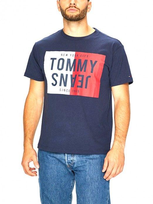 e85a55c9 T-Shirt Homem Azul marinho Tommy - DM0DM04538 | Mellmak