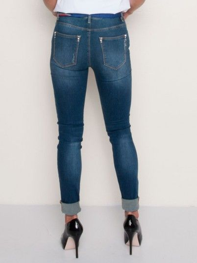 Vaqueros Mujer Jeans Oscuros Fracomina FR19SPJVICTORIA1