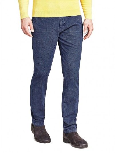 Pants Man Navy Blue Guess