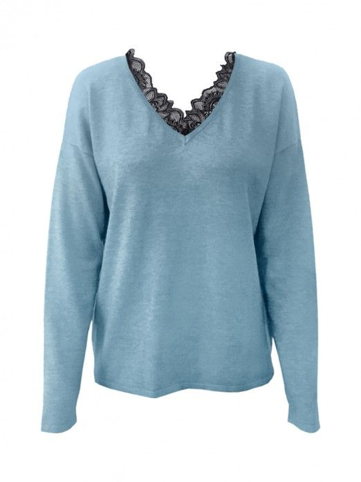 Knitwear Woman Blue Vero Moda