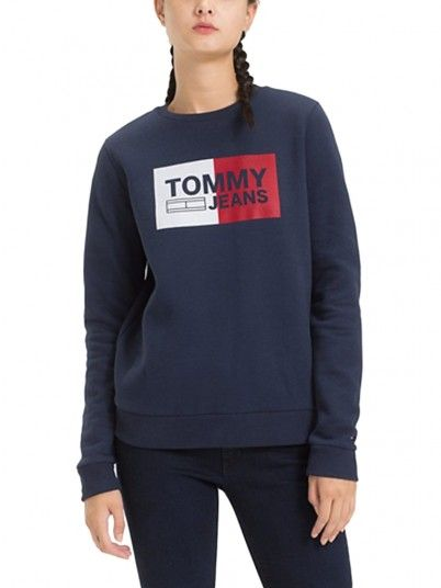 Sweatshirt Women Navy Blue Tommy DW0DW05685