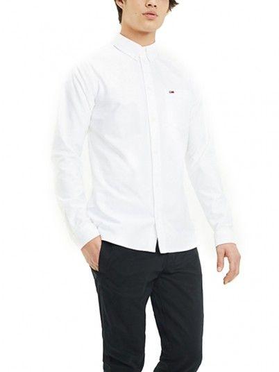 Camisas Hombre Blanco Tommy DM0DM04484