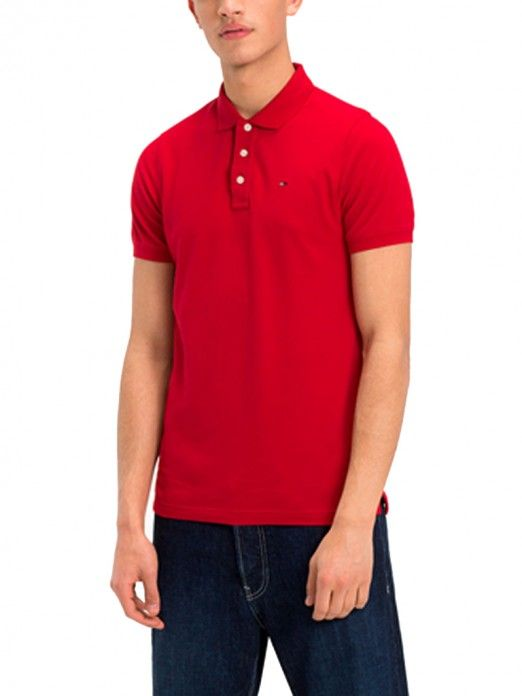 b5c64abc Polo Shirt Men Red Tommy DM0DM05232   Mellmak