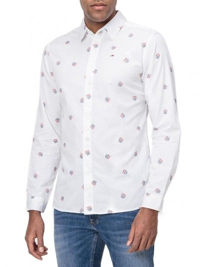 Shirt Man White Tommy Jeans
