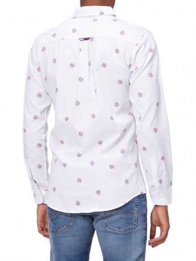 Camisa Hombre Blanco Tommy Jeans