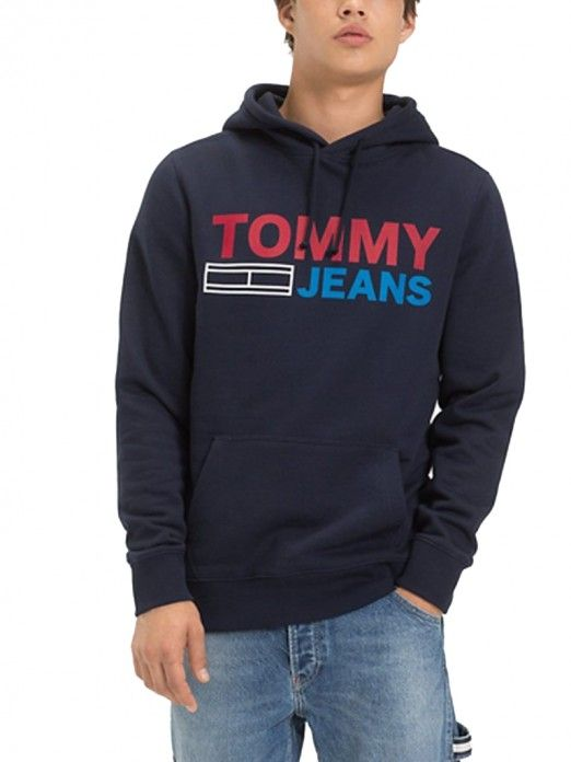 65ccc187cdd Sudadera Hombre Azul Oscuro Tommy DM0DM05539