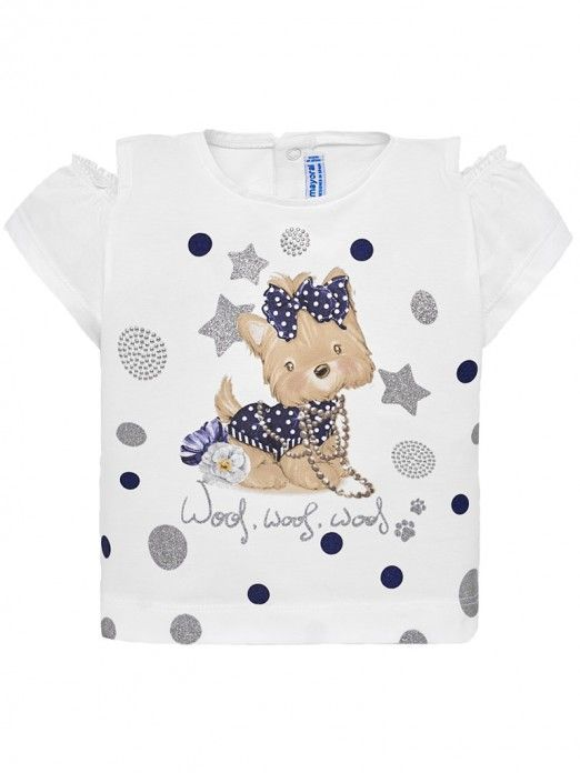 T-Shirt Baby Girl Grey Mayoral