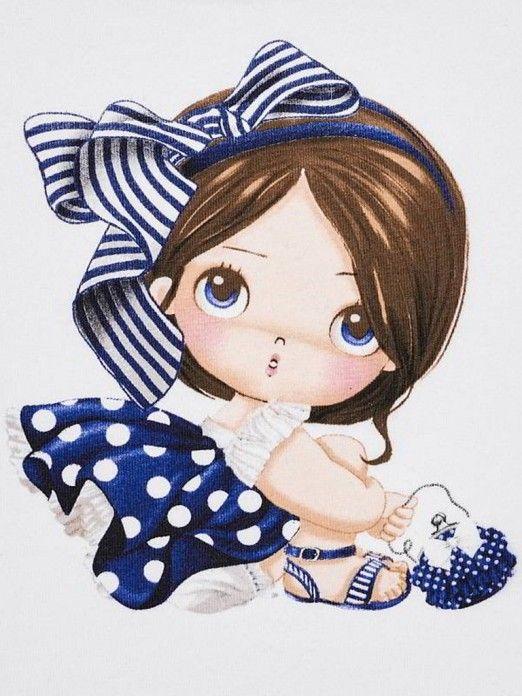 Camisola manga curta desenho bebé menina Mayoral