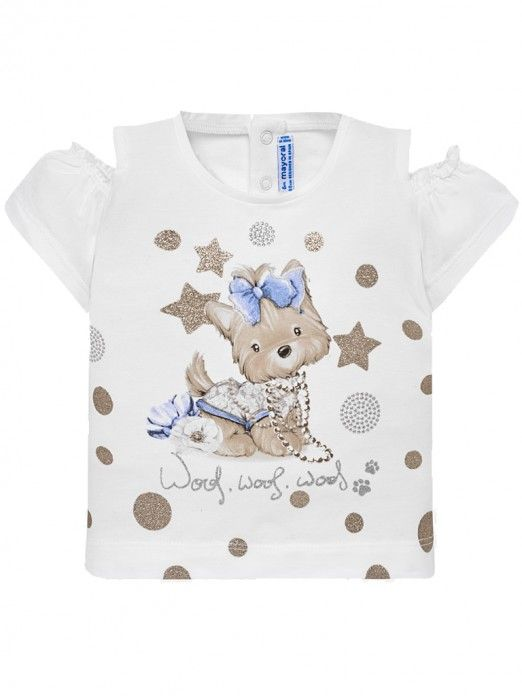 T-Shirt Baby Girl Beige Mayoral 1007