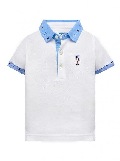 Polo Shirt Baby Boy White Mayoral 1114