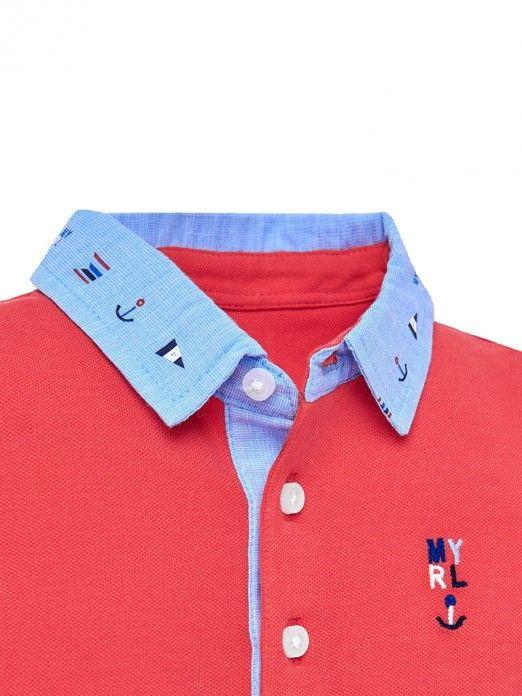 Polo Shirt Baby Boy Coral Mayoral 1114