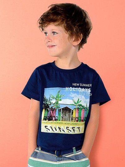 T-shirt SUNSET menino Mayoral